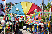 Rainbow Village in Semerang, Indonesia