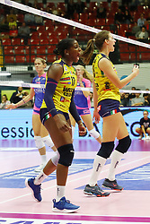 03-11-2018 ITA: Saugella Team Monza - Imoco Volley Conegliano, Monza<br /> Robin de Kruijf #5 of Imoco Volley Conegliano, Miriam Sylla #17 #5 of Imoco Volley Conegliano<br /> <br /> *** Netherlands use only ***