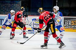 30.10.2016, Ice Rink, Znojmo, CZE, EBEL, HC Orli Znojmo vs EC VSV, 19. Runde, im Bild v.l. Markus Schlacher (EC VSV) Stepan Csamango (HC Orli Znojmo) Olivier Roy (EC VSV) Libor Sulak (HC Orli Znojmo) // during the Erste Bank Icehockey League 19th round match between HC Orli Znojmo and EC VSV at the Ice Rink in Znojmo, Czech Republic on 2016/10/30. EXPA Pictures © 2016, PhotoCredit: EXPA/ Rostislav Pfeffer