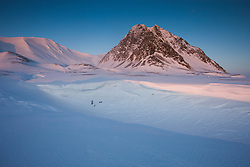 Svalbard mountains on the west coast of Spitsbergen