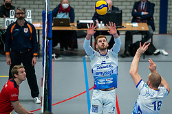 Luke Herr #2 of Lycurgus, .Dennis Borst #18 of Lycurgus in action during the league match Taurus - Amysoft Lycurgus on January 16, 2021 in Houten.