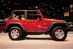 11 February 2009: Jeep Rubicon. The Chicago Auto Show is a charity event of the Chicago Automobile Trade Association (CATA) and is held annually at McCormick Place in Chicago Illinois.