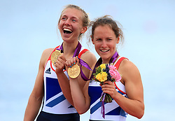 File photo dated 04-08-2012 of Great Britain's Sophie Hosking (right) and Katherine Copeland celebrate winning gold