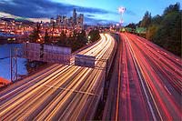 Interstate 5 & Seattle Skyline