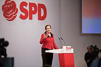 DEU, Deutschland, Germany, Berlin, 06.12.2019: Klara Geywitz (SPD), Mitglied des Brandenburger Landtags, beim Bundesparteitag der SPD im CityCube.