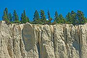 Hoodoos in Badlands. , Invermere, British Columbia, Canada