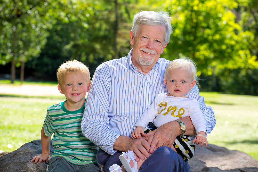 Grandpa with grandchildren portrait. Golden, Colorado