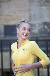 © London News Pictures. 23/07/2012. Tonbridge, Kent. Genevieve LaCaze 3000m steeplechase. Photocall for the Australian Olympic Athetics team who are based at Tonbridge School in Kent.