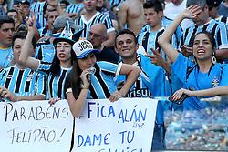 Torcida do Grêmio na partida contra o Internacional válida pelo GRENAL 403 na Arena do Gremio, em Porto Alegre. FOTO: Jefferson Bernardes/ Agência Preview