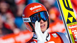 29.01.2017, Casino Arena, Seefeld, AUT, FIS Weltcup Nordische Kombination, Seefeld Triple, Skisprung, im Bild Terence Weber (GER) // Terence Weber of Germany reacts after his Competition Jump of Skijumping of the FIS Nordic Combined World Cup Seefeld Triple at the Casino Arena in Seefeld, Austria on 2017/01/29. EXPA Pictures © 2017, PhotoCredit: EXPA/ JFK