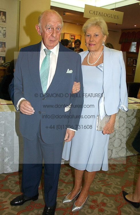 PRINCE & PRINCESS RUPERT LOWENSTEIN at a private view of the forthcoming sale 'Property from the collection of HRH The Princess Margaret, Countess of Snowdon' and a private view of art by Marina Karella Princess Michael of Greece, held at Christie's, 8 King Street, London SW1 on 12th June 2006.<br /><br />NON EXCLUSIVE - WORLD RIGHTS
