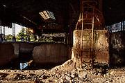 L'interno dell'impianto industriale Acciaierie Scianatico, in stato di  totale abbandono dagli anni ottanta. Bari, 23 settembre 2013. Christian Mantuano / OneShot