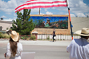 Locals protest the proposed Trans Pecos Pipeline in Alpine, Texas on June 19, 2015. (Cooper Neill for The Texas Tribune)