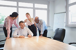 Meeting room conference room team planning office