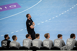 Uros Zorman, head coach of Trebnje during handball match between RK Trimo Trebnje and GOG Gudme in 9th Round of EHF Europe League 2020/21, on February 24, 2021 in Arena Stozice, Ljubljana, Slovenia. Photo by Vid Ponikvar / Sportida