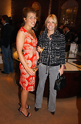 Left to right, AMBER NUTTALL and CAROLINE HABIB at a party to celebrate 100 years of Chinese Cinema hosted by Shangri-la Hotels and Tartan Films at Asprey, New Bond Street, London on 25th April 2006.<br /><br />NON EXCLUSIVE - WORLD RIGHTS