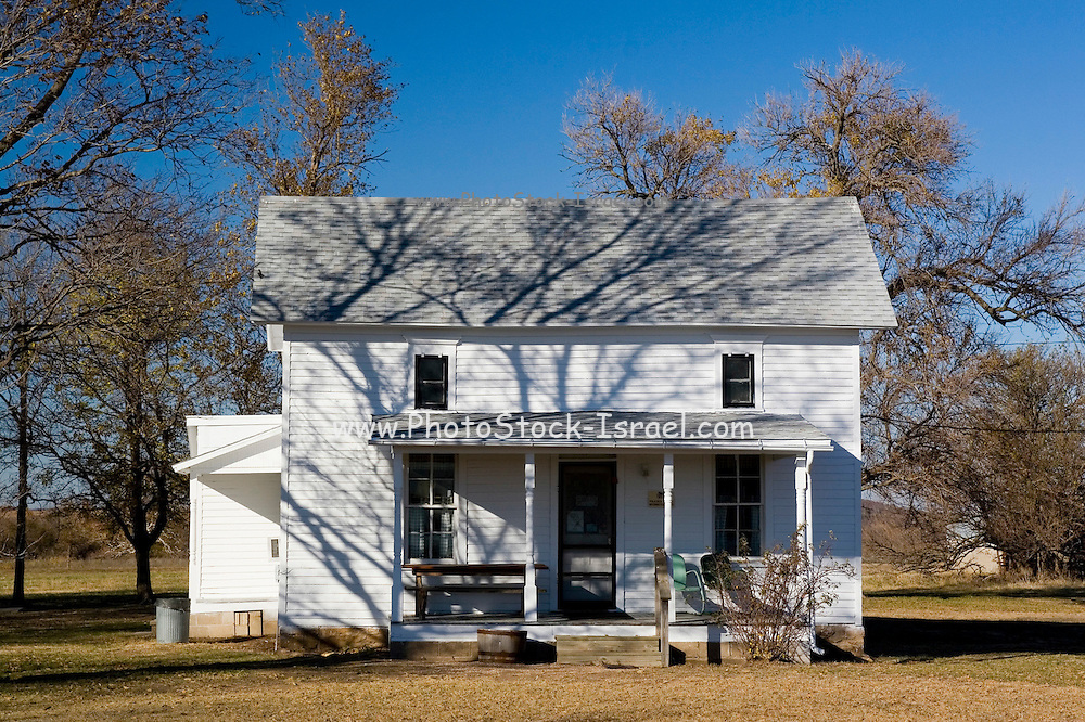"Kansas KS USA, Home of Laura Ingalls Wilder (author of ""Little House on the Prairie""). The book is about this house. Located near Wayside, KS."