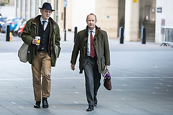 © Licensed to London News Pictures. 11/02/2018. London, UK. UKIP Leader Henry Bolton (L) arrives at BBC Broadcasting House. Photo credit: Rob Pinney/LNP