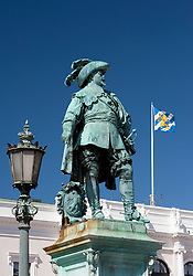 Statue of King Gustav Adolf  in central square of Gothenburg Sweden 2009