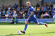 Wimbledon midfielder Mitchell (Mitch) Pinnock (11) crossing the ball during the Pre-Season Friendly match between AFC Wimbledon and Queens Park Rangers at the Cherry Red Records Stadium, Kingston, England on 14 July 2018. Picture by Matthew Redman.
