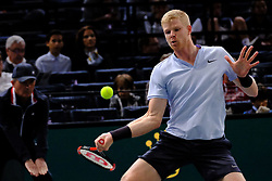 October 31, 2017 - Paris, France - Britain's KYLE EDMUND returns the ball to Evgeny Donskoy of Russia during their match at the Rolex Paris Master at Paris AccorHotel Arena Stadium in Paris,  France. Edmund won 5-7, 7-6, 6-3 (Credit Image: © Pierre Stevenin via ZUMA Wire)