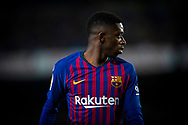 O. Dembele of FC Barcelona during the Spanish league football match of 'La Liga'  FC BARCELONA against RAYO VALLECANO at Camp Nou Stadium of Barcelona on March 9,2019