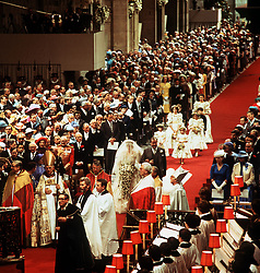 Earl Spencer leads his daughter, Lady Diana Spencer, down the aisle in St Paul's Cathedral, for her wedding to the Prince of Wales.  *  29/7/81 of Earl Spencer leading his daughter Lady Diana Spencer down the aisle of St Paul's Cathedral, London, for her wedding to the Prince of Wales.