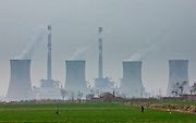 West Power Station, burning coal to make electricity, Xian, China