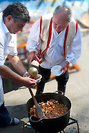 Birka porkolt ( Beef Porkolt) from Karcag. Paprika food festival. Kalocsa, Hungary .<br /> <br /> Visit our HUNGARY HISTORIC PLACES PHOTO COLLECTIONS for more photos to download or buy as wall art prints https://funkystock.photoshelter.com/gallery-collection/Pictures-Images-of-Hungary-Photos-of-Hungarian-Historic-Landmark-Sites/C0000Te8AnPgxjRg