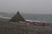 Helsport Finnmark Lavvo and Cobolt kayaks Sibir Expedition..