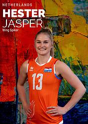 Hester Jasper of Netherlands, Photoshoot selection of Orange women's volleybal team season 2021on may 12, 2021 in Arnhem, Netherlands (Photo by RHF Agency/Ronald Hoogendoorn)