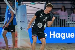 Dries Koekelkoren (1) of Belgium in action during CEV Continental Cup Final Day 1 - Women on June 23, 2021 in The Hague