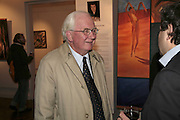 Sir Brian Cubborn and Michael  Rogatchi , The Real Dream, private view for an exhibition of work by Michael Rogatchi. Cork St. London.  5 December 2006. ONE TIME USE ONLY - DO NOT ARCHIVE  © Copyright Photograph by Dafydd Jones 248 CLAPHAM PARK RD. LONDON SW90PZ.  Tel 020 7733 0108 www.dafjones.com