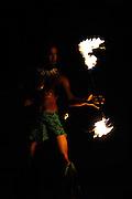 Male Hawaiian fire dancer. Hawaii