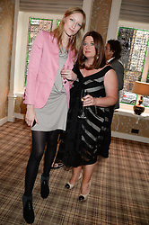 Left to right, JADE PARFITT and ELAINE FORAN at the Blue Monday Cheese Launch presented by Alex James and held at The Cadogan Hotel, Sloane street, London on 11th June 2013.
