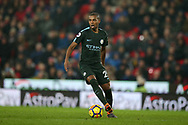 Fernandinho of Manchester City in action. Premier league match, Stoke City v Manchester City at the Bet365 Stadium in Stoke on Trent, Staffs on Monday12th March 2018.<br /> pic by Andrew Orchard, Andrew Orchard sports photography.