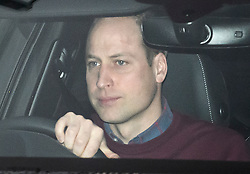 © Licensed to London News Pictures. 14/01/2020. London, UK. PRINCE WILLIAM, DUKE OF CAMBRIDGE is seen returning Kensington Palace in London. Yesterday Queen Elizabeth II held a summit meeting with senior members of the Royal family at Sandringham, following a recent announcement that Prince Harry and Megan, The Duke and Duchess of Sussex, will be stepping back from official Royal duty and spending more time abroad. Photo credit: Ben Cawthra/LNP