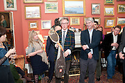 DAN FRANKLIN; ANDREW BARROW, Party to celebrate the publication of Animal Magic by Andrew Barrow. Tite St. London. 28 February 2011.  -DO NOT ARCHIVE-© Copyright Photograph by Dafydd Jones. 248 Clapham Rd. London SW9 0PZ. Tel 0207 820 0771. www.dafjones.com.