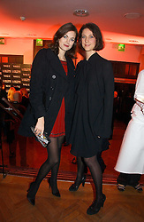 Left to right, model JASMINE GUINNESS and designer MARIA GRACHVOGEL at the 6th annual Lancome Colour Design Awards in association with CLIC Sargent Cancer Care held at Lindley Hall, Victoria, London on 28th November 2006.<br />