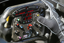March 11, 2017 - St. Petersburg, Florida, U.S. - DIRK SHADD   |   Times  .With a map of the race course attach at the bottom, IndyCar driver Charlie Kimball clutches his steering wheel in the cockpit of his car before heading out for the IndyCar practice session on day two of the Firestone Grand Prix of St. Petersburg Saturday (03/11/17) (Credit Image: © Dirk Shadd/Tampa Bay Times via ZUMA Wire)