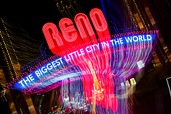 """""""Reno Lights 9"""" - The Grand Sierra Resort photographed in Reno, Nevada. The abstract effect was obtained in camera by long exposure mixed with intentional camera movement."""