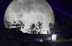 JAKARTA, Aug. 18, 2018  A performance is staged during the opening ceremony of the 18th Asian Games at Gelora Bung Karno (GBK) Main Stadium in Jakarta, Indonesia, Aug. 18, 2018. (Credit Image: © Zhu Wei/Xinhua via ZUMA Wire)