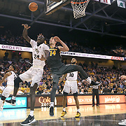ORLANDO, FL - NOVEMBER 30: Tacko Fall #24 of the UCF Knights and Reed Nikko #14 of the Missouri Tigers collide as they fight for a rebound during a NCAA basketball game at the CFE Arena on November 30, 2017 in Orlando, Florida. (Photo by Alex Menendez/Getty Images) *** Local Caption *** Tacko Fall; Reed Nikko