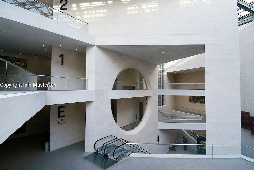 Interior of new extension of German History Museum designed by IM Pei in Berlin Germany