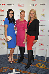 Left to right, VICTORIA PENDLETON, ROSIE NIXON and CHARLOTTE STOCKTING at the 20th CEW (UK) Achiever Awards 2012 - celebrating two decades of women, passion, beauty, held at the Hilton, park Lane, London on 16th October 2012.