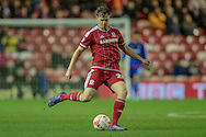 Tomáš Kalas (on loan from Chelsea) (Middlesbrough) crosses the ball into the box during the Sky Bet Championship match between Middlesbrough and Wolverhampton Wanderers at the Riverside Stadium, Middlesbrough, England on 4 March 2016. Photo by Mark P Doherty.