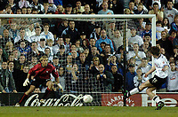 Photo. Glyn Thomas. <br /> <br /> Derby County v Preston North End. 19/05/2005.<br /> <br /> Coca-Cola Championship Play Offs, Second Leg. <br /> <br /> Derby's Grzegorz Rasiak (R) misses from the penalty spot.