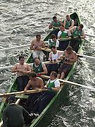 The Cromane Seine Boat crew taking part in the Race at Portmagee regatta in County Kerry 2011..Picture by Don MacMOnagle