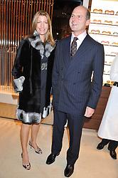 RICCARDO & COSIMA PAVONCELLI at the Salvatore Ferragamo Old Bond Street Boutique Store Launch on 5th December 2012.