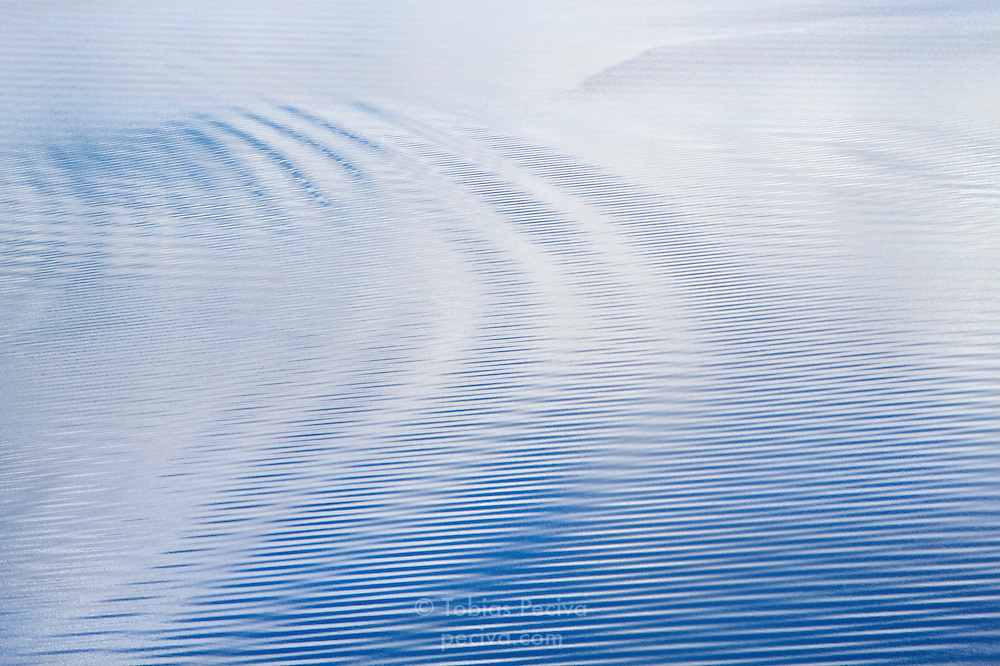 Ripples on the surface of Crater Lake, in Crater Lake National Park, Oregon.